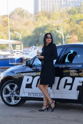 Vice squad. Striptease near the police car. Nude photo by Pablo Incognito
