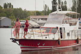 Two girls on a yacht posing for a nude photographer Pablo Incognito