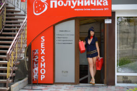 Iren Adler went naked in a sex shop. I bought a flight attendant suit. Nude photo by Pablo Incognito