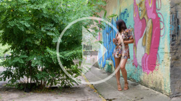 Video backstage photo session with Flashing. Nude photographer Pablo Incognito