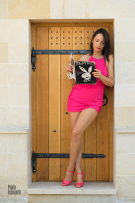Nude model Iren Adler with Playboy magazine. Photo session Pablo Incognito