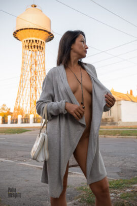 Nude photo session with the Shukhov Tower in the background. Photo by Pablo Incognito