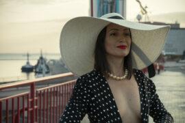 Nude photo session in Odessa at the sea terminal. Sexy in stockings. Pablo Incognito