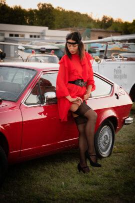 Glamor, Nude photo session, Alfa Romeo at the exhibition in Kiev. Photographer Pablo Incognito