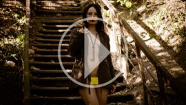 Video backstage nude photoshoot on the stairs. Photo by Pablo Incognito