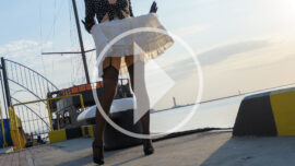 Graceful bottomless at the seaport in Odessa. Nude photos and videos of Pablo Incognito