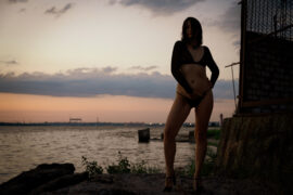 Nude photo session with striptease. Model - Iren Adler. Photographer - Pablo Incognito