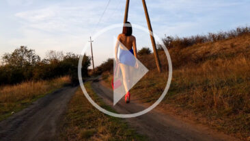 Video walk Iren Adler with elements of bottomless and topless. Nude photographer Pablo Incognito