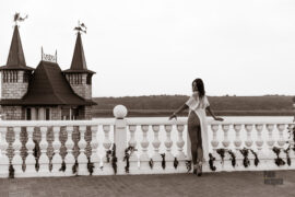 Nude photoshoot in the castle. Iren Adler's striptease is gentle and sensual. Photo by Pablo Incognito