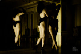 Nude photoshoot with 2 topless models. Location - cafe. Photo by Pablo Inognito