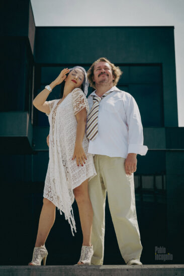 Wedding of nude model Iren Adler and nude photographer Pablo Incognito